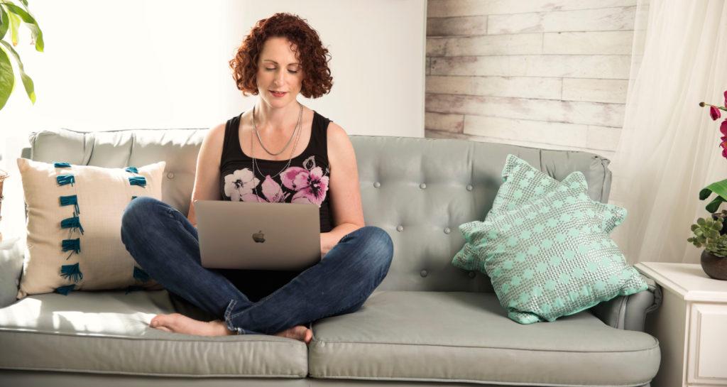 Dorothy Villeneuve Sales Coaching on couch