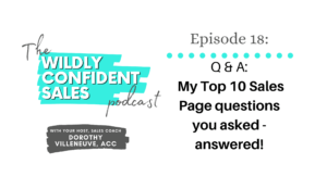 Q & A My Top 10 Sales Page Questions You Asked - Answered!